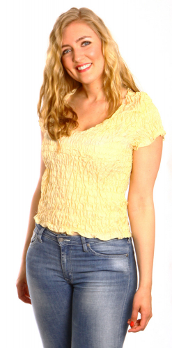 Lovely stretch top in the group  / Silk blouse/silktop at Sleep in Silk (132-1r)