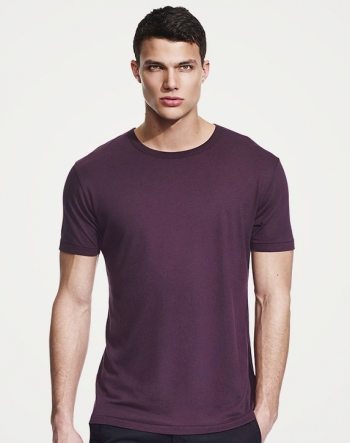 Bamboo t-shirt aubergine in the group Bamboo products / Bamboo clothes at Sleep in Silk (lilar)