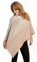 Poncho cashmere/wool mix beige