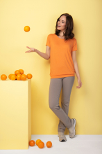 "Bambu t-shirt ""Smooth you"", orange"