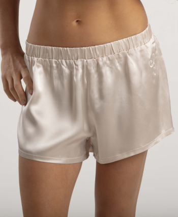 Victoria shorts Champagne i gruppen Sovplagg  / Pyjamas hos Sleep in Silk (vic3shortschampagne99)